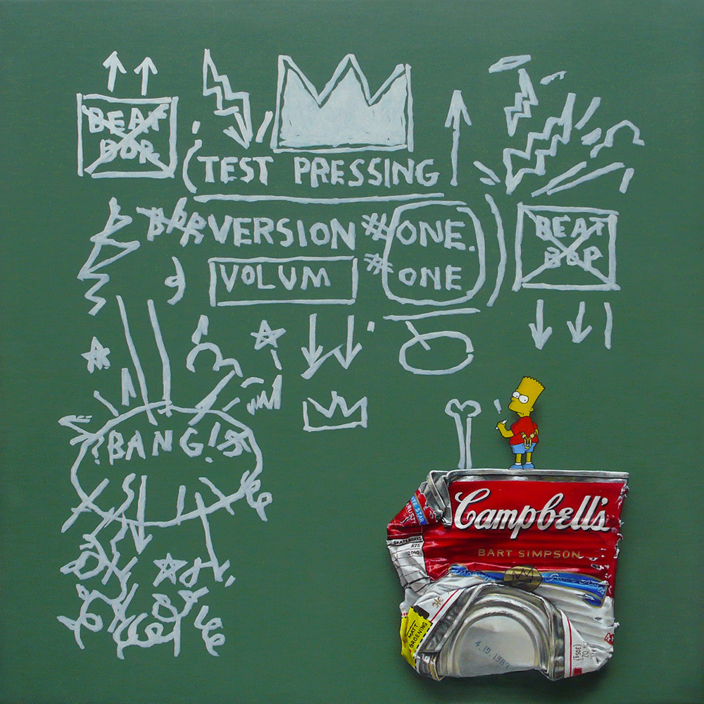 Campbell's 'Bart Simpson' 30×30cm 2010