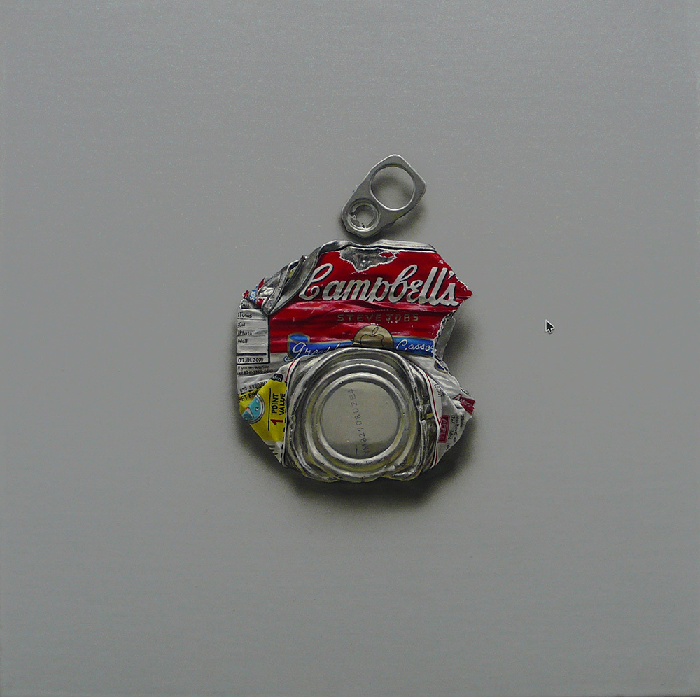 Campbell's 'Apple' 30×30cm Oil on Canvas 2009