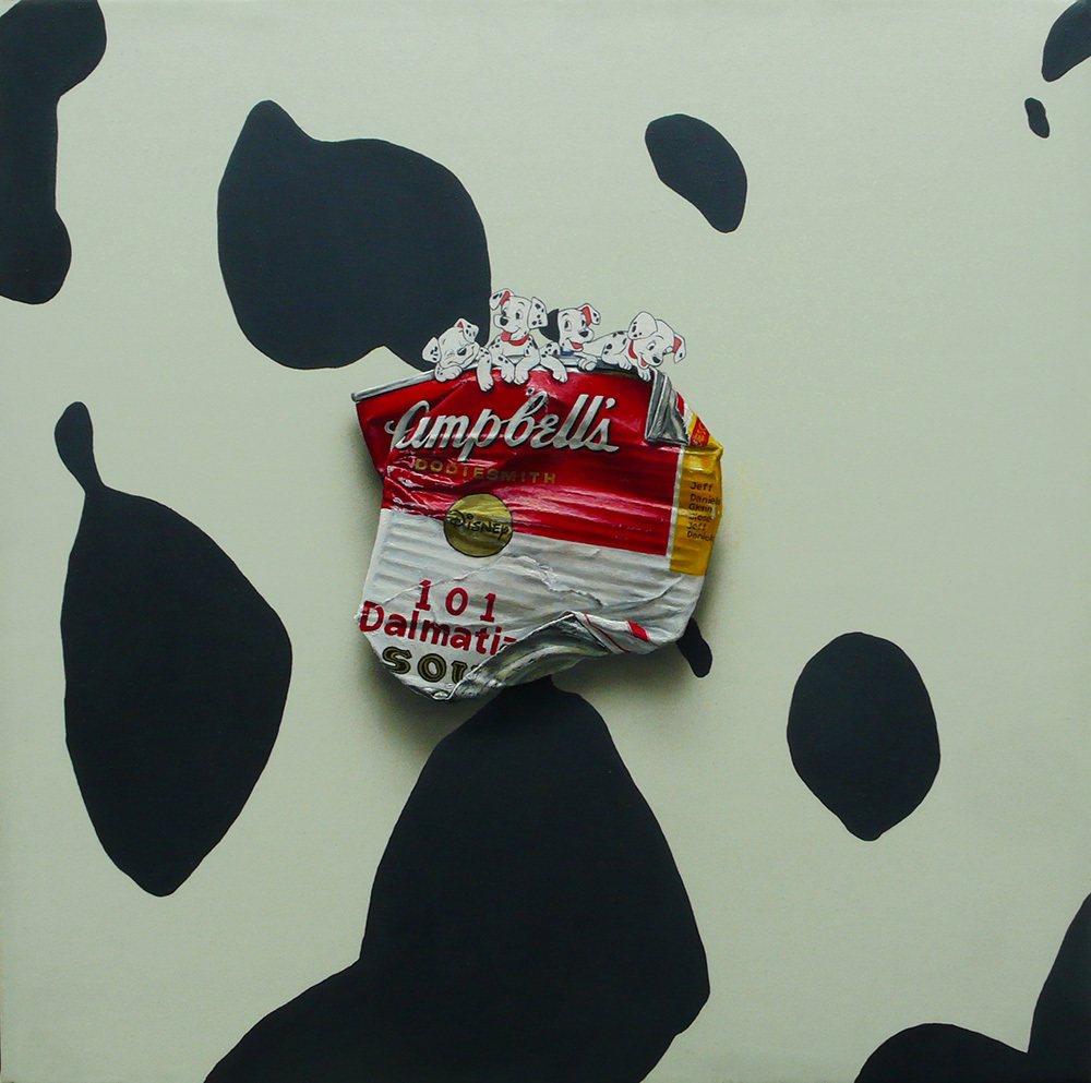 Campbell's '101 Dalmatian' 30×30cm Oil on Canvas 2010