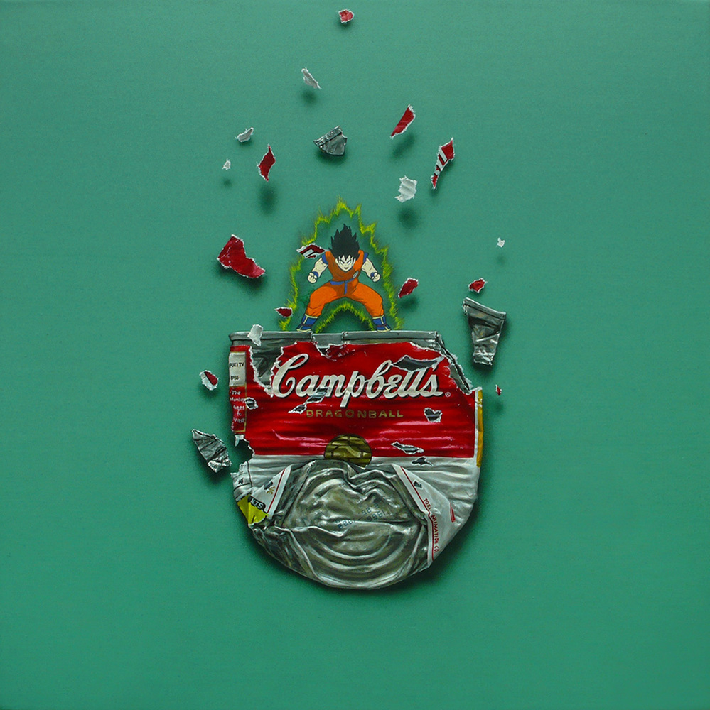 Campbell's 'Dragonball' 30×30cm Oil on Canvas 2009