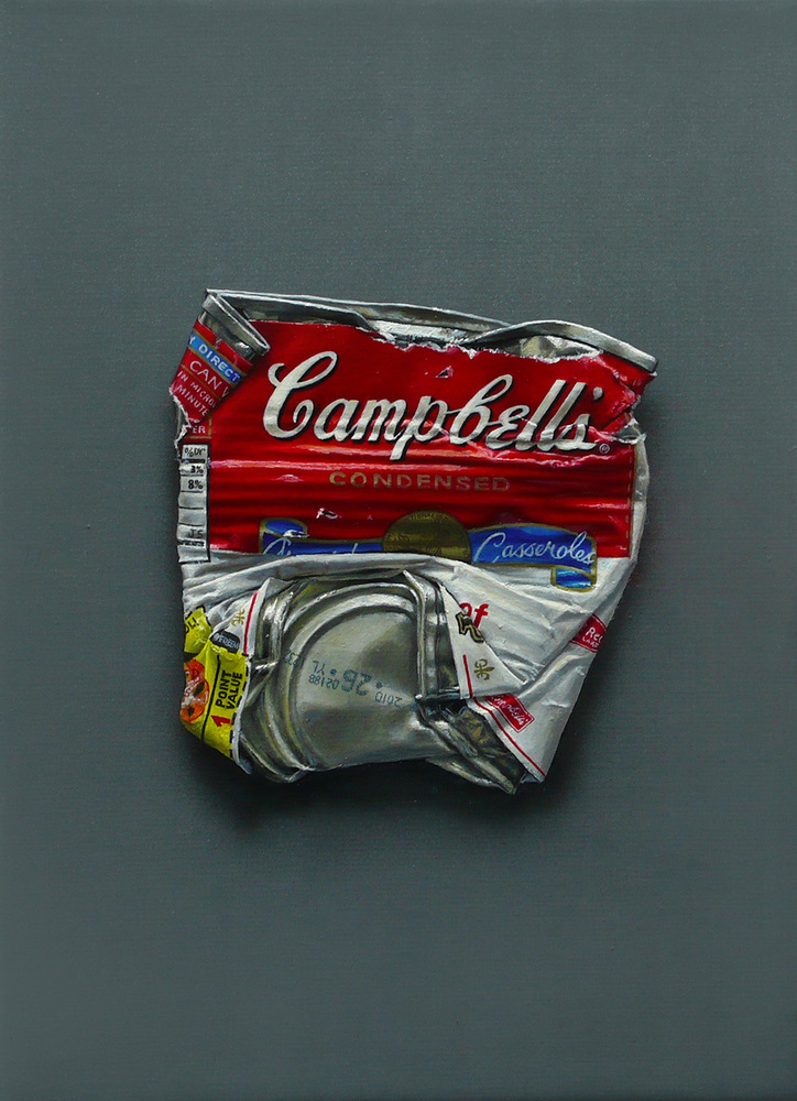 Campbell's 'Cream of Mushroom Soup' 22×16cm Oil on Canvas 2010