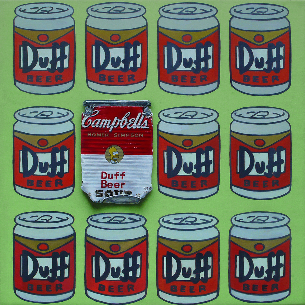 Campbell's 'Homer Simpson Simpson' 30×30cm 2010