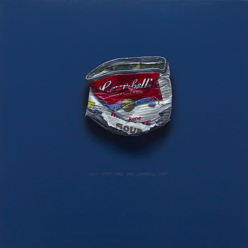 campbell's 'Rene Magritte' 30×30cm Oil on Canvas 2009