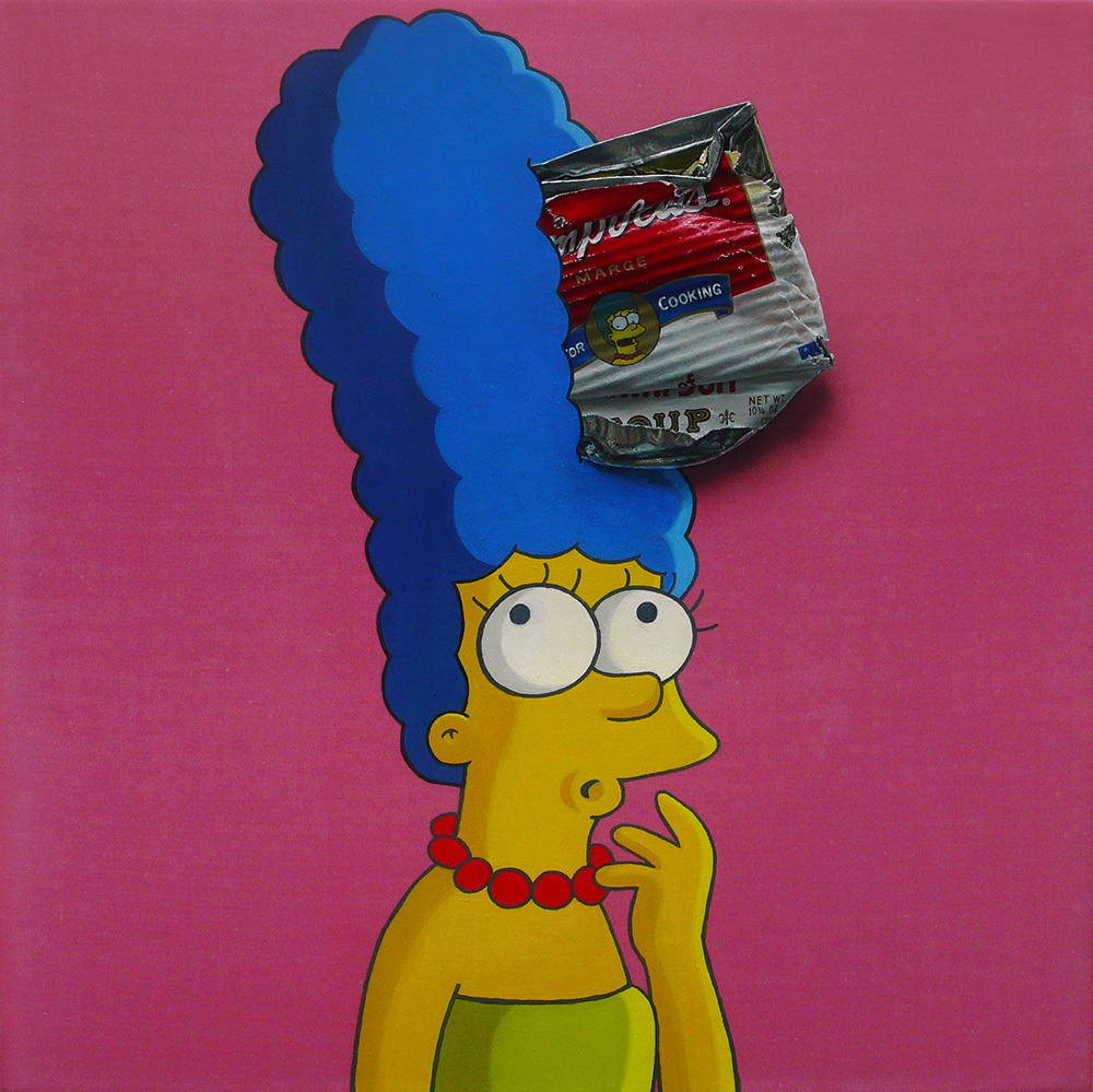 Campbell's 'Marge Simpson' 30×30cm Oil on Canvas 2010