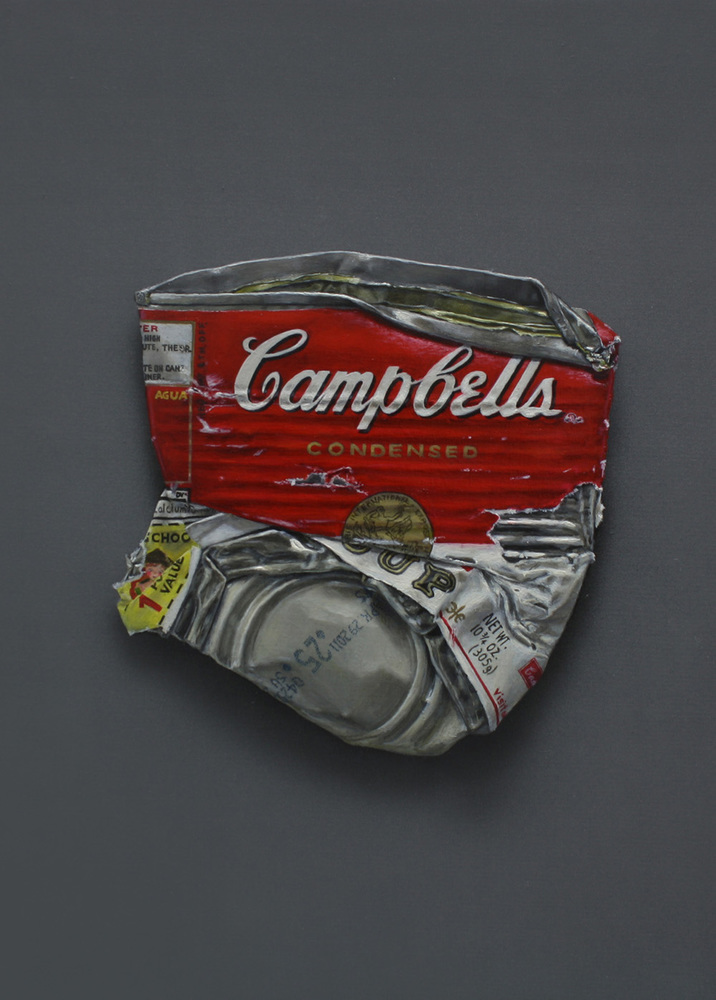 Campbell's 'Chicken Noodle Soup' 22×16cm Oil on Canvas 2010
