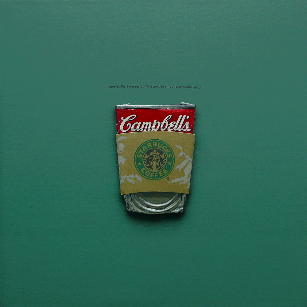 campbell's 'Starbucks' 30×30cm Oil on Canvas 2009