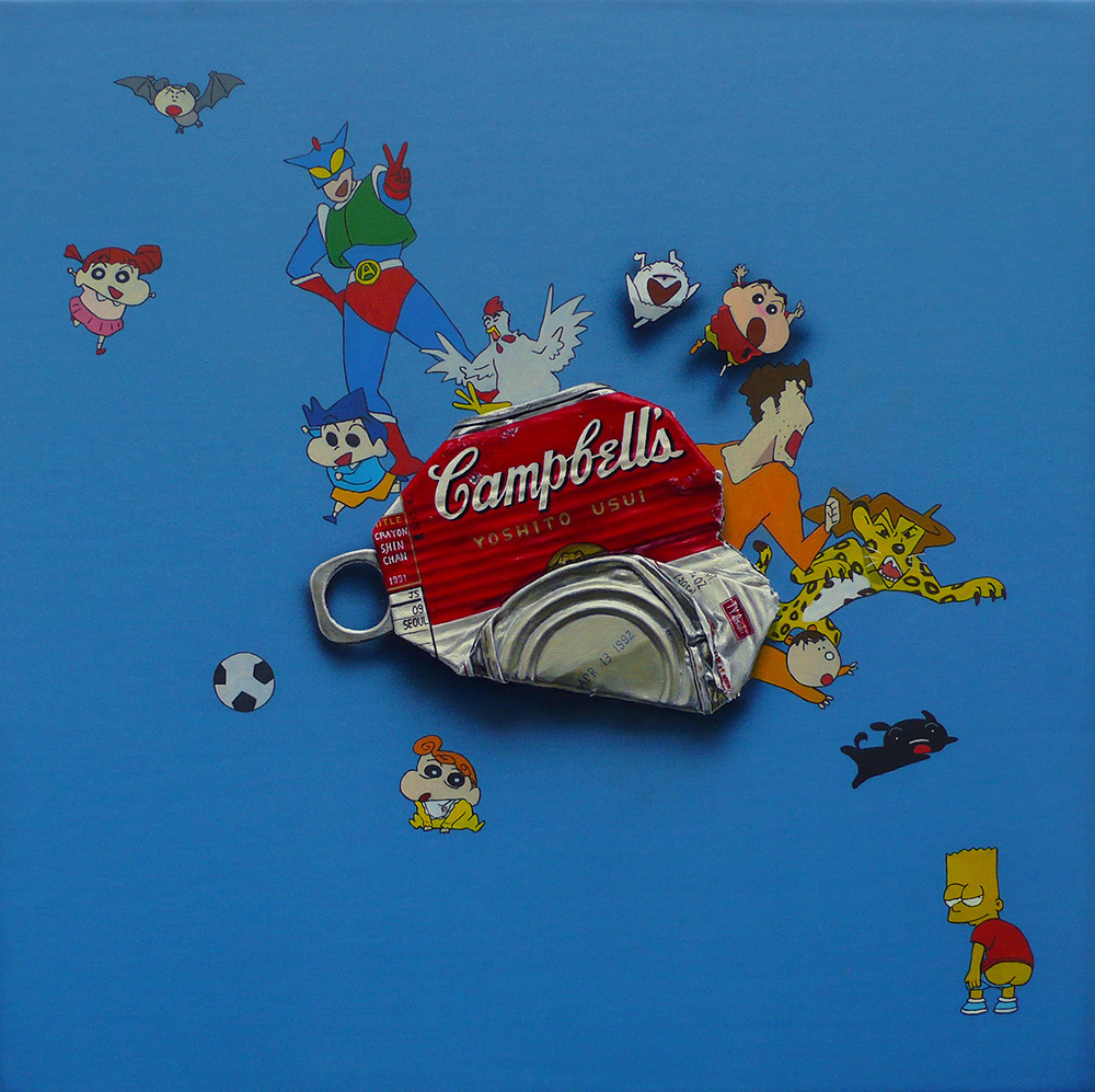 campbell's 'Crayon Shin Chan' 30×30cm Oil on Canvas 2009